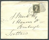 "CANADA #38i USED SMALL QUEEN MANITOBA TOWN CANCEL COVER ""WINNIPEG"""