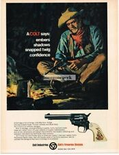 1968 COLT 45 Revolver Cowboy art Vtg Print Ad