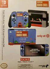 New Nintendo Switch Joy Con Mario Bros. Skin & Screen Protector Set -Target