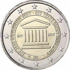 Belgien 2 Euro 200 Jahre Universität Gent 2017 Stempelglanz in Münzkapsel