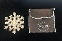 Vintage Gorham Sterling Snowflake Limited Annual Edition Ornament  22 grams