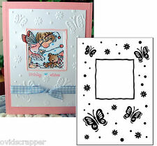 Darice embossing folders BUTTERFLY FRAME 1215-67 insects Cuttlebug compatible