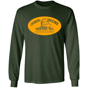 John Deere, Retro, Moline, Illinois, Farm, Tractor, Equipment, Logo, Deer, T-shi