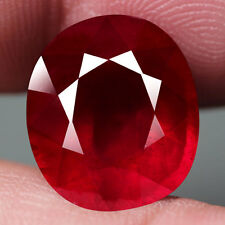 OVAL FACET TOP BLOOD RED NATURAL RUBY MADAGASCAR 9.71 ct