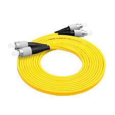 10Pcs 3 M FC-FC Duplex 9/125 Singlemode Fiber Optic Cable Patch Cord Wholesale