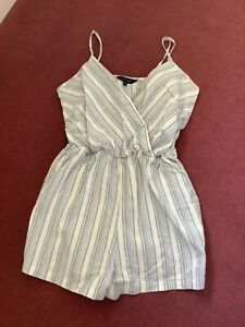 Striped cotton shorts play suit from New Look size 10