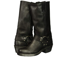 New Frye Womens Harness 12R Boot Black Multi 77300 Leather Size 6.5 M US
