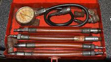 Vintage Snap On Tools Compression Gauge Test Set Kit 250psi Amp Metal Case