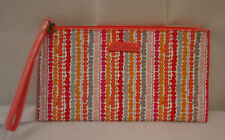 Vera Bradley Slim Zip  Wristlet Confetti Stripe   NWT