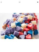 100 Highly Scented Soy Wax Melt Love Heart Shape HANDMADE PerfumeScents Free P&P
