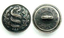 Bouton Officier Service de Santé (1914-1918). 15 mm. Argenté, modèle de 1°GM