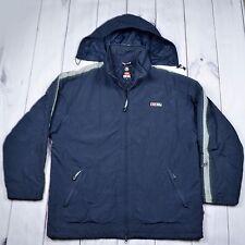 Diesel Winter Jacket Hooded Dark Blue Nylon Men Size XL