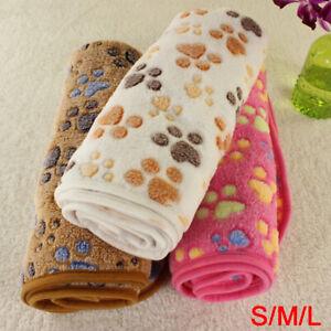 Fine-Pet Warm Pet Mat Paw Print Cat Dog Puppy Fleece Soft Blanket Cushion