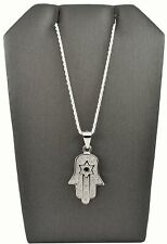 Hamsa Hand Necklace - 925 Sterling Silver Necklace