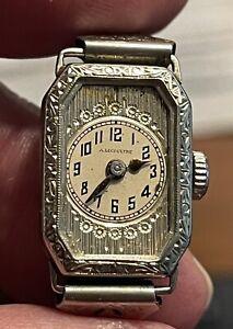 Very Rare -Vintage 1920s Anton LeCoultre Art Deco Ladies Wrist Watch
