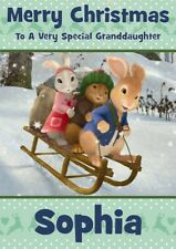 personalised Christmas card Peter Rabbit Any name/relation