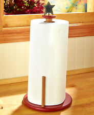Rustic Star Folk Art Paper Towel Holder Primitive Simplify Paper Towel Holder