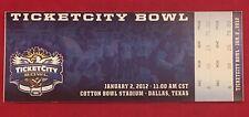 2012 Ticketcity Bowl College Football Ticket Penn State PSU vs Houston Cougars