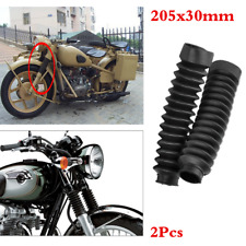 A Pair Motorcycle Front Fork Rubber Dust Cover Gaiters Boots Gaitor 205X30mm