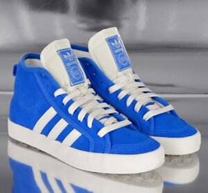 Adidas Honey Mid W Leather Shoes Women's Sneakers Children Retro Blue/White