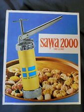 Vintage SAWA 2000 Deluxe Cookie Press Made in Sweden IN BOX with Instructions