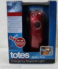 totes Weather Works BATTERY FREE Hand Crank Power EMERGENCY FLASHLIGHT Light LED