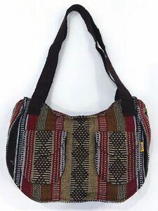 RASTA double front pocket Bag Beach Hippie Baja Ethnic handbag Made in Mexico
