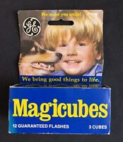 Vintage GE General Electric Magicubes Flash Cubes - 3 Cubes 12 Flashes