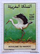 MAROC Yt 1111 Timbre neuf  Faune, Oiseaux - Ciconia ciconia CIGOGNE