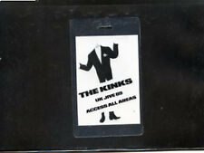 The Kinks  1989 Backstage laminate pass UK Jive all access