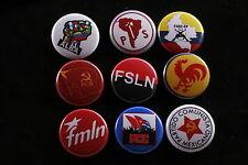 Communist Socialist Party Button Lot South Central America Badge FSLN ALBA FMLN