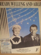 song sheet READY WILLING AND ABLE Doris Day Frank Sinatra, young at heart 1954