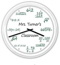 Math Wall Clock - Office Den Decor Home School Classroom Pop Quiz Clock Teacher