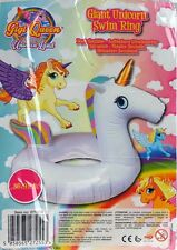 "PMS 36"" GIANT UNICORN DESIGN SWIM RING IN STRONG PP BAG CRD+"