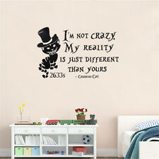 Alice In Wonderland Cheshire Cat Wall Stickers Vinyl Decal Removable Home Decor