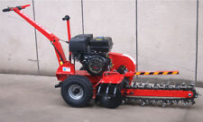 """New 15HP Gas Powered Walk Behind Trencher Digger 24"""" Depth 27 Tooth"""
