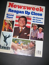 Newsweek Ronald Reagan Up Close July 1980 Magazine President Political FREE SHIP