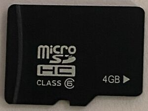 4GB Micro SDHC Card, Class 6 - Brand New