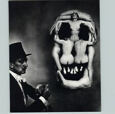 1972 1951 Philippe Halsman Human Skull Nudes Salvador Dali Art Photo Gravure