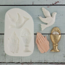 Silicone mould, Holy Communion, Confirmation, Chalice, Praying Hands, Dove M103