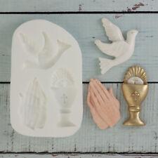Moule silicone, la sainte communion, confirmation, calice, priant mains, dove M103
