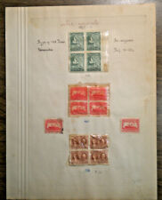Three Newfoundland 4 blocks + 2 - #163 164 & 165 from 1929 - 14 stamps mounted