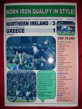 Irlanda del Nord 3 Grecia 1 - 2015-EURO 2016 qualificatore-stampa souvenir