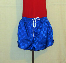 Vtg 70's Union Jacks Soccer Style Athletic Shiny Small Blue Lined Nylon Shorts