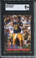 2000 Fleer Ultra Football #234 Tom Brady Rookie Card Graded SGC MINT 9 Patriots