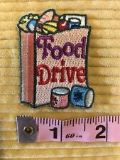 NEW Girl Scout Volunteer Outreach Food Drive Patch