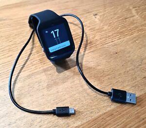 Sony Smartwatch 3 SWR50 / PERFECT condition / Black / Rubber strap / no case