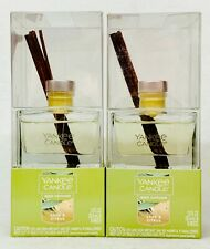 2 Yankee Candle Reed Diffuser Kit Sage Citrus Scent Oil Glass Sticks 1.2 oz