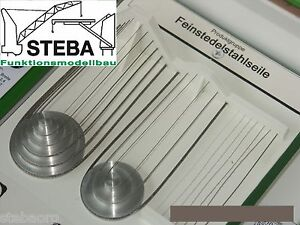 Feinstes Edelstahlseil - Sortiment - Dn 0,45+0,60+0,72mm, je 5m von STEBA