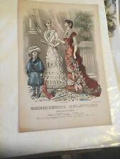 """1880 Magazine Advertisement -  Magasin Des Demoiselles , Paris 11"""" x 7"""""""